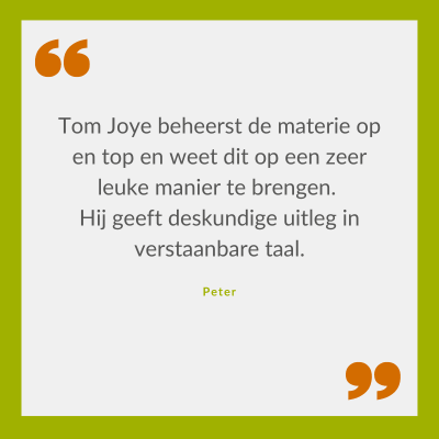 Quote Peter over Tom Joye