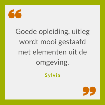 Quote Sylvia over Klimaatbestendig omgaan met waterschaarste